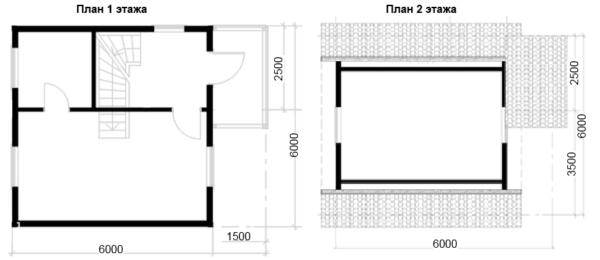 Изображение Дом из бруса 6х6м