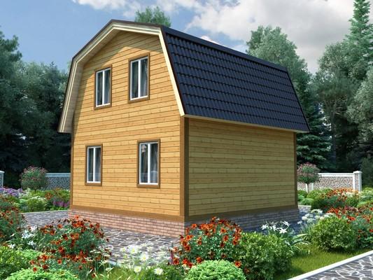 Изображение Дом каркасный 6х7м с террасой