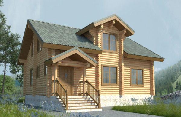Изображение Дом из оцилиндрованного бревна 7,6×10м