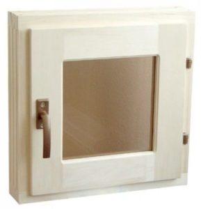 Окно деревянное террасное с одинарным остеклением, летнее, размер: 0,6*0,4