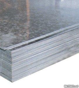 Оцинкованный лист железа 1250х2500