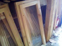 Окно деревянное зимнее, размер: 60*100 см