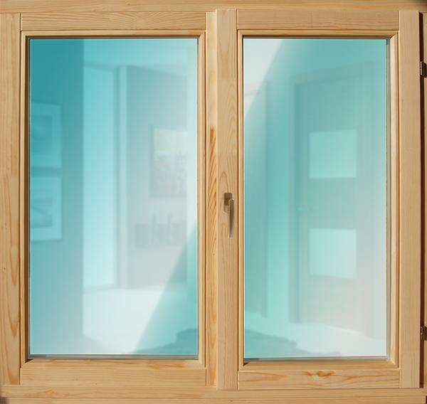 Окно деревянное зимнее, размер: 1*1 м