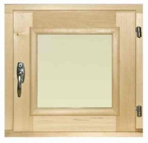 Окно деревянное террасное с одинарным остеклением, летнее, размер: 0,6*0,6