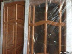 Двери деревянные из мебельного щита фрезерованная 60/70/80х200