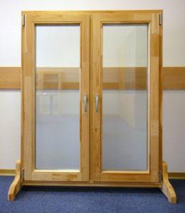 Окно деревянное террасное с одинарным остеклением, летнее, размер: 0,8*1 м