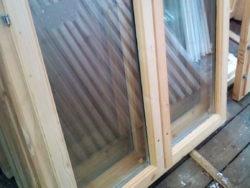 Деревянное окно со стеклопакетом 100*120 см