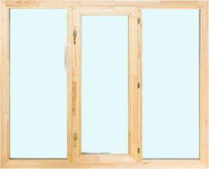 Окно деревянное террасное с одинарным остеклением, летнее, размер: 1,2*2 м