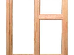 Окно деревянное зимнее, размер: 1*1,4 м