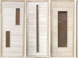 Дверь деревяннаябанная, см 70х160