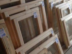 Окно деревянное террасное с одинарным остеклением, летнее, размер: 0,9*0,5