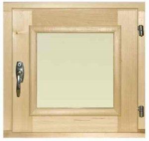Окно деревянное террасное с одинарным остеклением, летнее, размер: 0,4*0,4