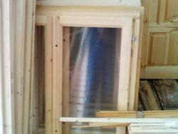 Деревянное окно зимнее двойное (две рамы) 100*80 см