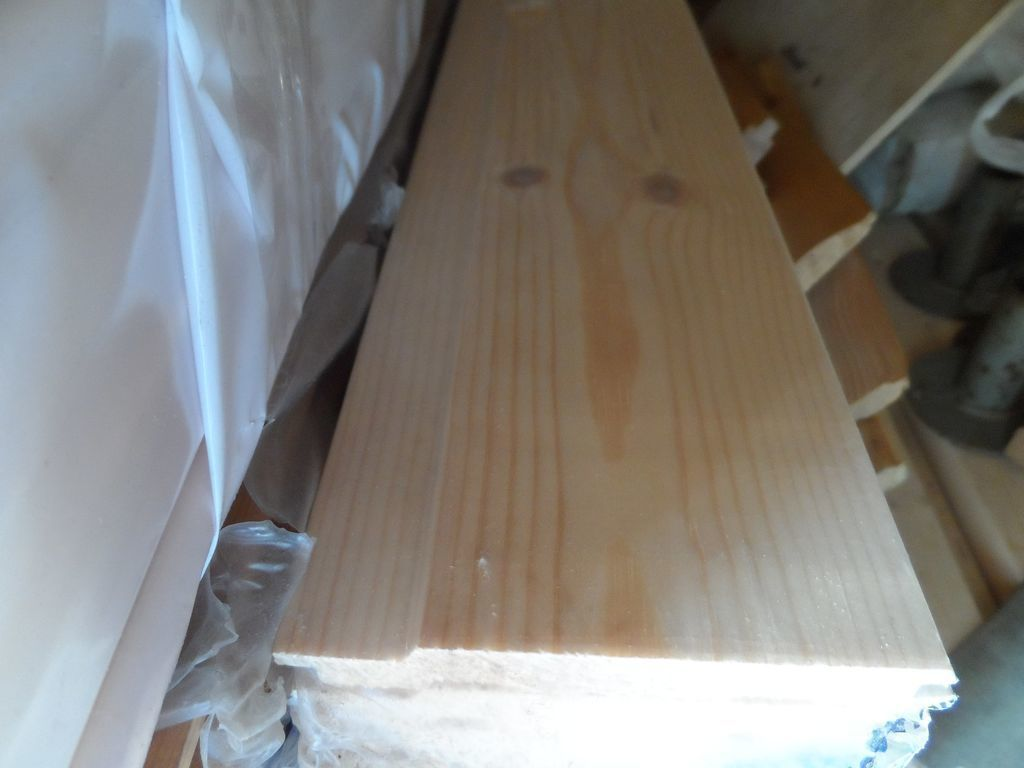 Вагонка деревянная из Осины для Бани 90х14х1000мм Сорт С