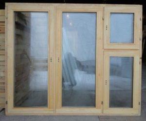 Окно деревянное террасное с одинарным остеклением, летнее, размер: 1*1,5 м