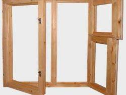 Окно деревянное террасное с одинарным остеклением, летнее, размер: 1,5*1,2