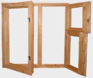 Окно деревянное террасное с одинарным остеклением, летнее, размер: 1,2*1,5