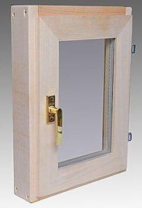 Окно деревянное террасное с одинарным остеклением, летнее, размер: 50*60 с