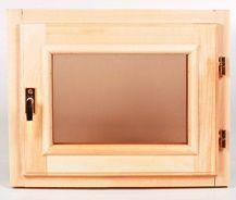 Окно деревянное террасное с одинарным остеклением, летнее, размер: 50*70 с