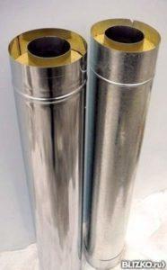 Сендвич-труба 115;200-0.5м-оцинковка