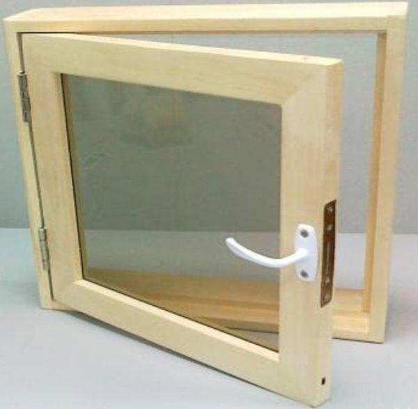 Окно деревянное террасное с одинарным остеклением, летнее, размер: 50*90 м