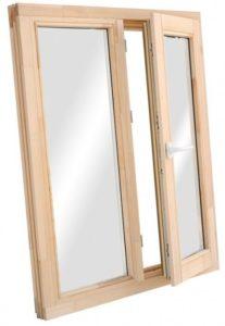 Окно деревянное террасное с одинарным остеклением, летнее, размер: 1*1,4 м