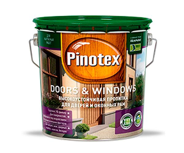 Пропитка Pinotex DOORS&WINDOWS для дверей и окон База под колеровку 1 л.