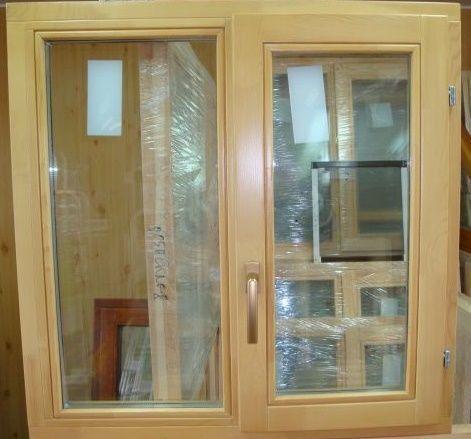 Окно деревянное террасное с одинарным остеклением, летнее, размер: 0,8*0,8