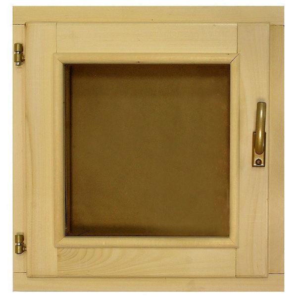 Окно деревянное зимнее, размер: 60*60 см