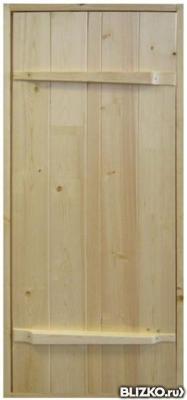 Дверь в парилку «Ласточкин хвост» из сосны 80х160