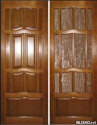 Межкомнатные деревянные двери Россия из массива сосны окрашенные глухие.