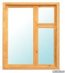 Окно деревянное террасное с одинарным остеклением, летнее, размер: 0,8*0,5