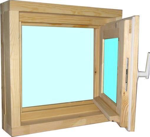 Окно деревянное зимнее, размер: 40*50 см