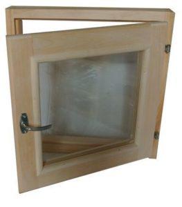 Окно деревянное террасное с одинарным остеклением, летнее, размер: 0,6*0,9