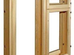 Окно деревянное зимнее, размер: 90*90 см