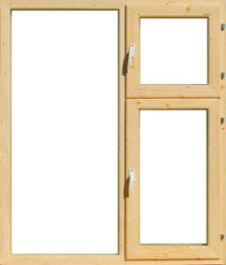 Окно деревянное террасное с одинарным остеклением, летнее, размер: 1,2*1 м