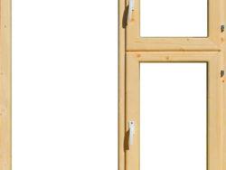 Окно деревянное террасное с одинарным остеклением, летнее, размер: 1*1,2 м