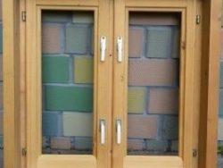 Окно деревянное террасное с одинарным остеклением, летнее, размер: 0,9*0,9