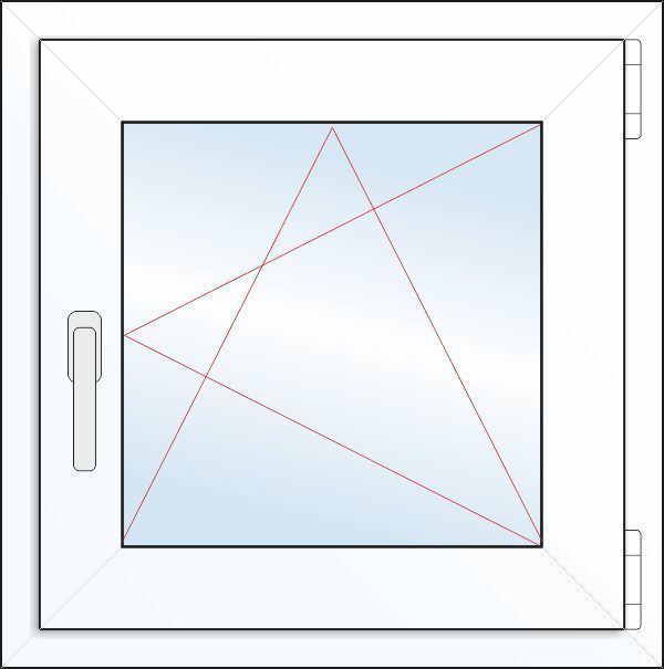 Пластиковое окно 500х500