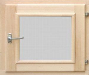 Окно деревянное террасное с одинарным остеклением, летнее, размер: 0,5*0,5