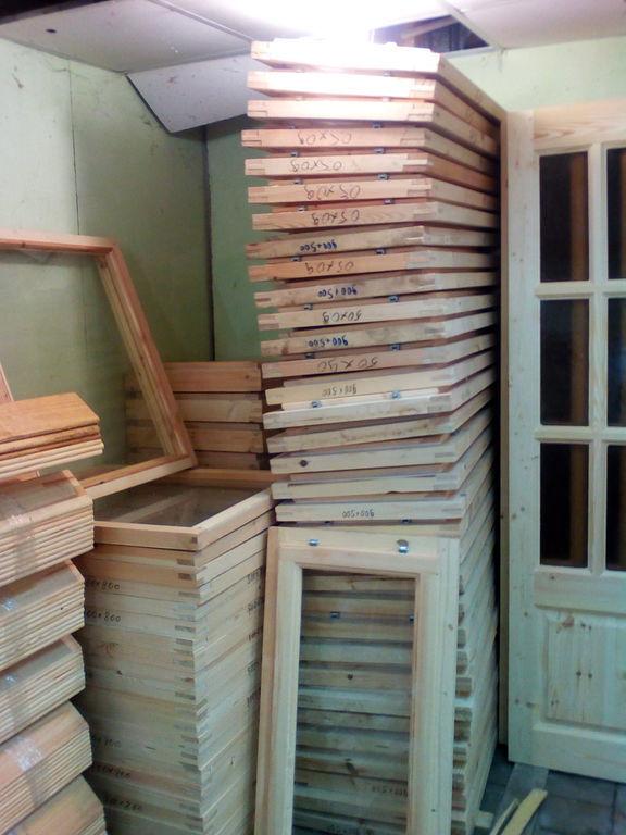 Окно деревянное зимнее, размер: 100*60 см