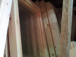 Окно деревянное зимнее, размер: 50*50 см