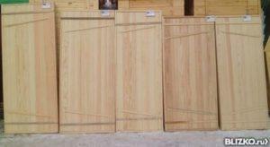 """Дверь банная хвоя 180х70 700х1800мм Соединение """"ласточкин хвост"""""""